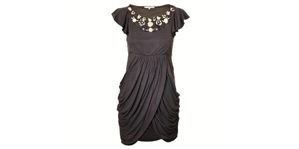Dámské tmavě šedé šaty Uttam Boutique