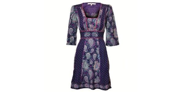 Dámské tmavě fialové etno šaty Uttam Boutique