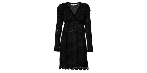Dámské černé pletené šaty Uttam Boutique