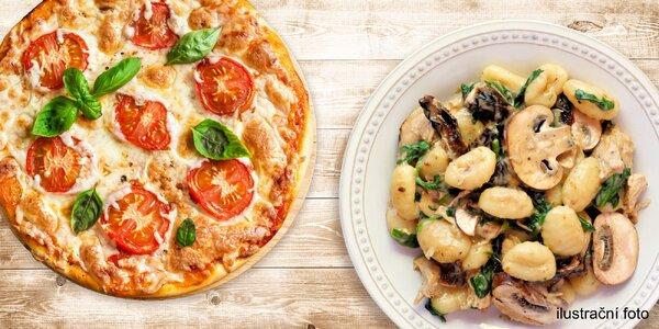 Dvě pizzy nebo dvoje gnocchi podle výběru