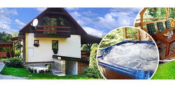 4denní pobyt v luxusní chatě až pro 8 lidí v srdci Beskyd