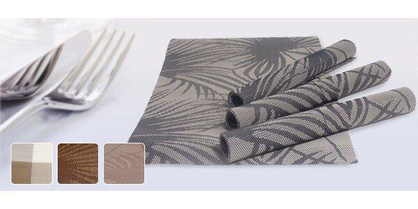 4 stylová tkaná prostírání z omyvatelného plastu