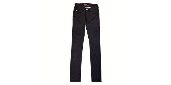 Dámské černé džíny Pepe Jeans s gepardím vzorem
