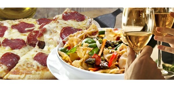 299 Kč za italské menu pro dva v restaurantech Trinidad!