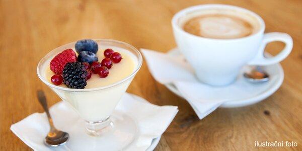 Káva a dezert podle výběru pro jednoho i dva