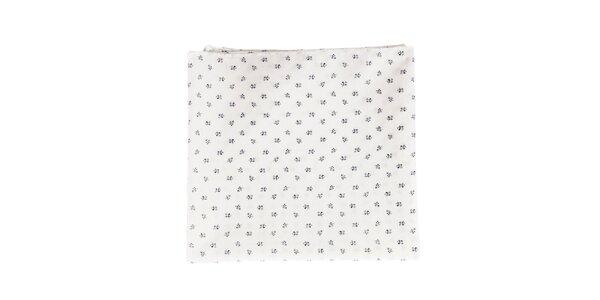 Dámský bílý bavlněný šátek Pepe Jeans s potiskem