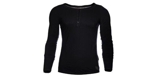 Pánské černé tričko Pepe Jeans s dlouhým rukávem