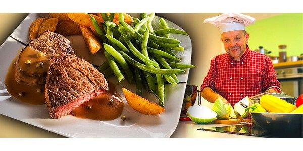239 Kč za kurz vaření. Steaky, asijská kuchyně, Itálie a další!