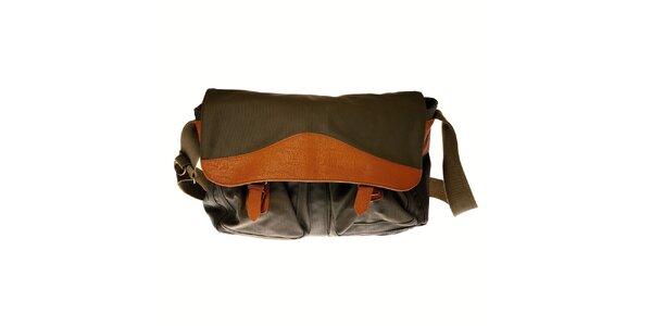 Pánská tmavě zelená taška přes rameno Pepe Jeans