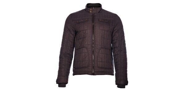 Pánská tmavě šedá prošívaná bunda Pepe Jeans