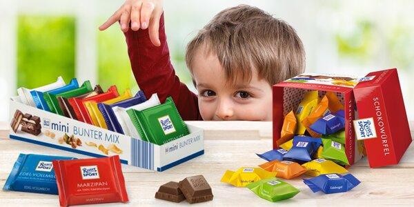 Sladká chvilka: balíčky čokolád Ritter Sport