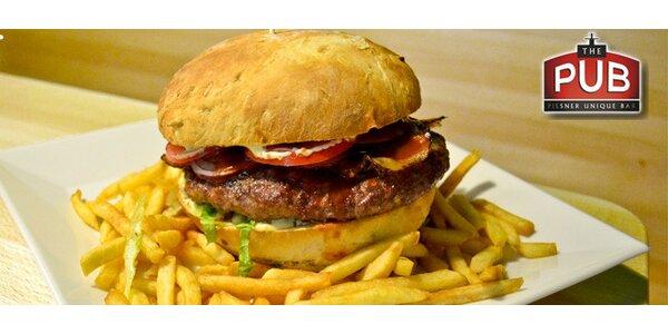 Dva obrovské burgery z bio hovězího v The PUB