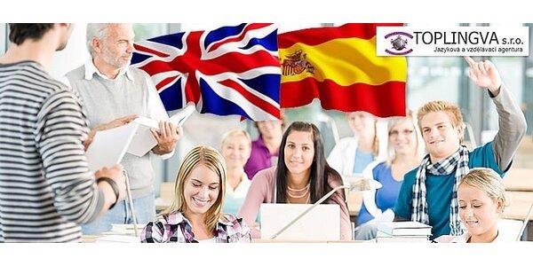 Jazykové kurzy angličtiny nebo španělštiny s rodilými mluvčími