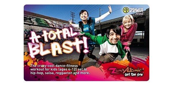 Za pouhých 30 Kč ZumbAtomic - Zumba fitness speciálně vytvořená pro děti!!!