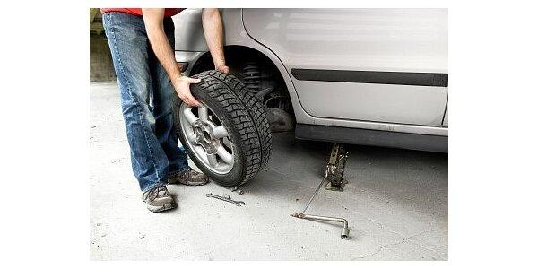 450 Kč za přezutí a vyvážení Vašich pneu