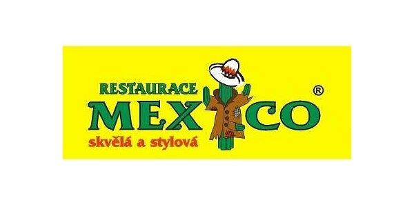 99 Kč za obědové menu pro 2 osoby v restauraci Mexico v hodnotě 150 Kč