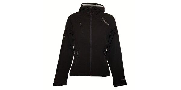 Dámská černá softshellová bunda Trimm Hannah s kapucí