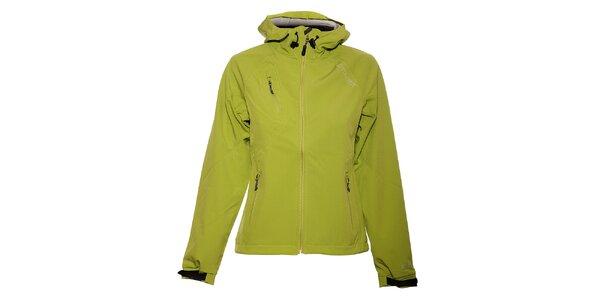Dámská limetkově zelená softshellová bunda Trimm Hannah s kapucí