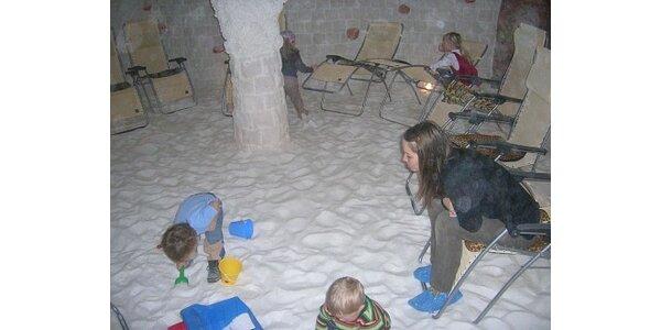 70 Kč za vstup do solné jeskyně za polovinu ceny