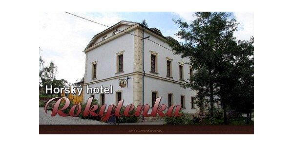 1400 Kč za pobytový víkend pro 2 osoby v horském hotelu Rokytenka 36% sleva