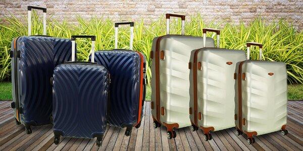 Sady kufrů na kolečkách: kosmetické i skořepinové