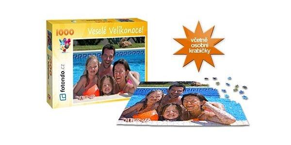 599 Kč za puzzle z vlastní fotky o 1000 dílcích včetně osobní krabičky