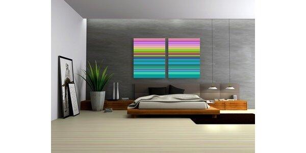 240 Kč za dekorace na zeď a moderní obrazy v ceně 400 Kč