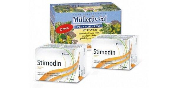 164 Kč za dvě balení Stimodinu + zdarma Čaj při nachlazení v hodnotě 274 Kč