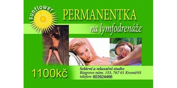 660 Kč za permanentku na 10 kúr lymfodrenáže s masážní emulzí s slevou 40 %