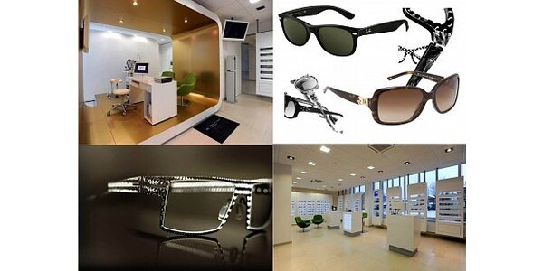 250 Kč za voucher na značkové sluneční a dioptrické brýle v hodnotě 500 Kč