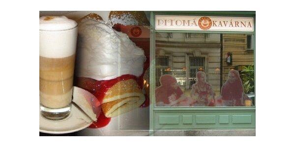 105 Kč za 2 kávy Latte Macchiato a 2 porce palačinek v Pitomé kavárně