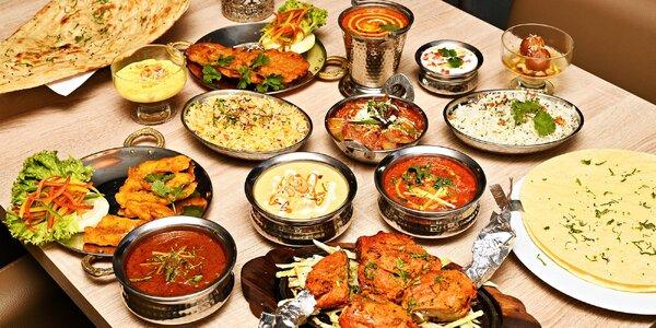 Indické menu pro 2 či 4: vege i masová jídla