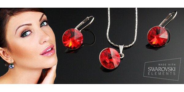 319 Kč za náhrdelník a náušnice s krystaly Swarovski, na výběr z 10 barev.