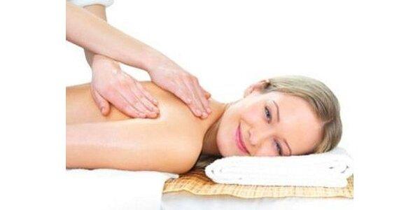 375 Kč za úžasnou hodinovou relaxační masáž zad a šíje v hodnotě 500Kč