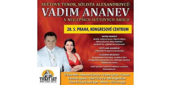 645 Kč za koncert VADIMA ANANEVA - vstupenky s 50% slevou - nejlepší místa
