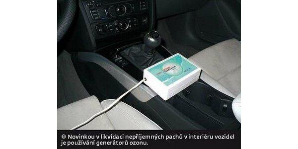 299 Kč za dezinfekci klimatizace auta moderním strojem Ozón Maker