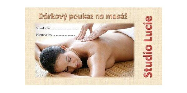 Za 450 Kč si kupte nebo darujte poukaz na masáž v hodnotě 1000 Kč