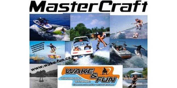 490 Kč za 20 minut vodního adrenalinu za speciálním člunem Mastercraft.
