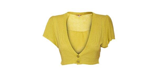 Dámské žlutozelené bolerko Aniye By