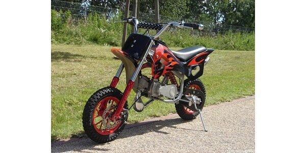 4999 Kč za cross motorku zn. Dirt bike 50cc v původní hodnotě 9999 Kč