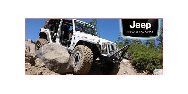 Jen 1350 Kč za volantem brutálního Jeep Wrangler Rubicon - 30 minut