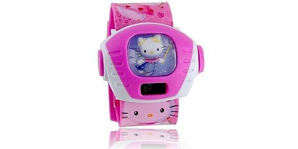 149 Kč za hodinky s digitální projekcí Hello Kitty a Spiderman místo 490 Kč