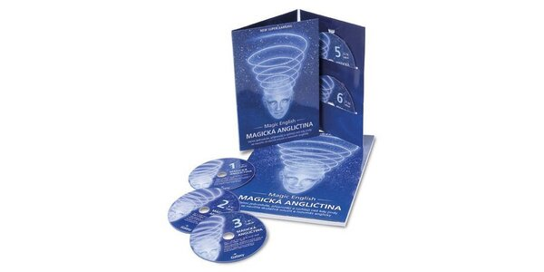 2450 Kč za kolekci Magické angličtiny 6 CD a učebnice v hodnotě 3450 Kč