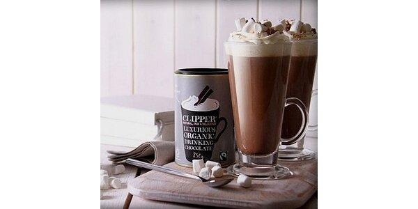 99 Kč za luxusní balení Fairtrade a Bio horké čokolády Clipper Teas