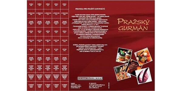 399 Kč za knížku plnou slev do restaurací Pražský gurmán v hodnotě 2499 Kč