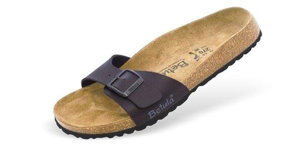 Dámské tmavě hnědé pantofle Betula