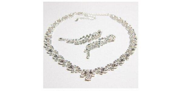 586 Kč za štrasový náhrdelníkový komplet v původní hodnotě 837 Kč