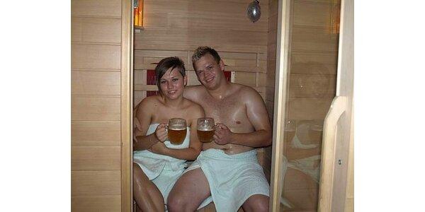 120 Kč za infrasaunu pro 2 osoby + 2 kvasnicové piva v hodnotě 240 Kč