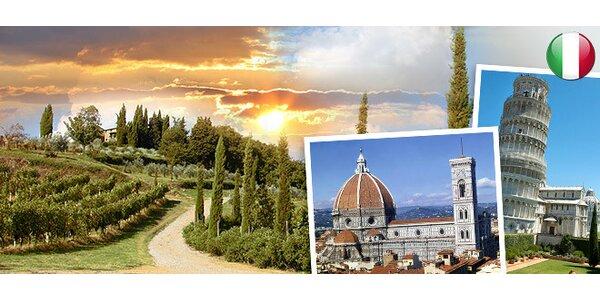 Víkendový zájezd do Toskánska. Florencie, Pisa, Siena a další!