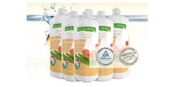 360 Kč za 95% Aloe Vera gel s příchutí broskve v původní hodnotě 588 Kč